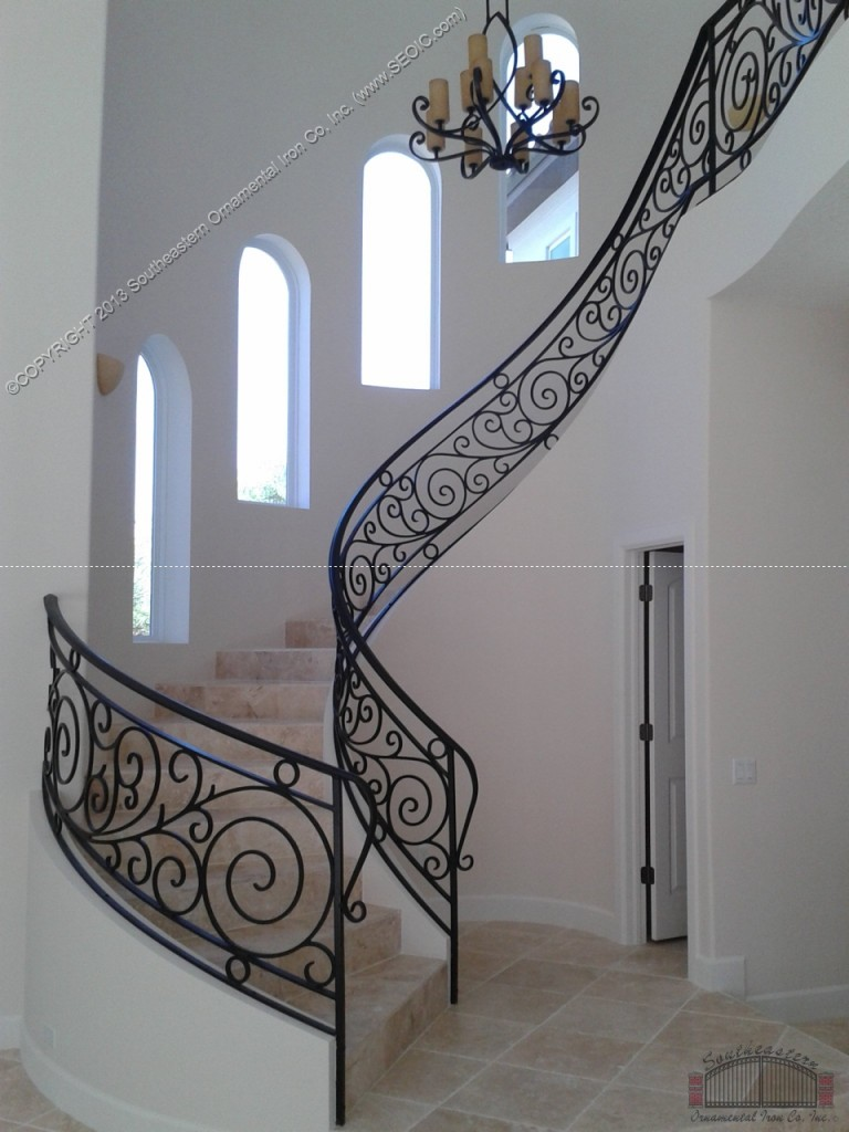Wrought-Iron-Stair-Rail(SR-105)
