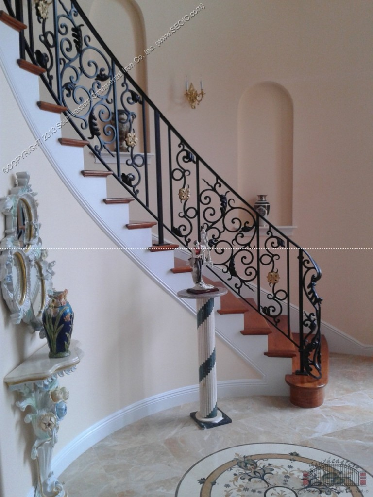 Wrought Iron Stair Rail Sr 109a