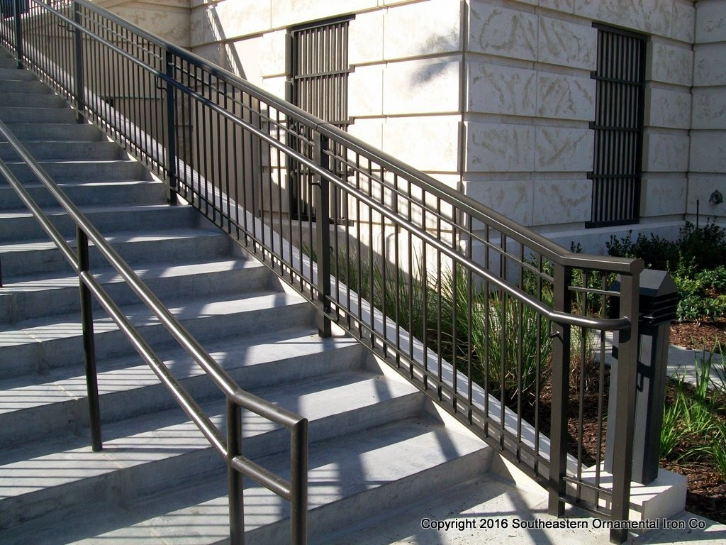 Aluminum stair railing southeastern ornamental iron works