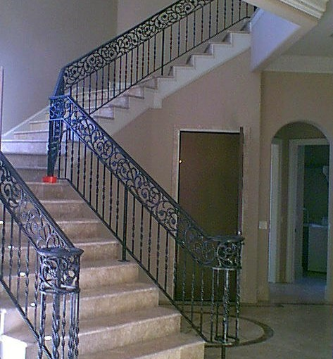 Wrought-Iron-Stair-Railing-(SR-31)