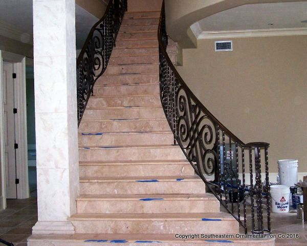 Wrought-Iron-Stair-Rail (SR-17)