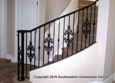 Wrought-Iron-Stair-Rail-(SR-23)