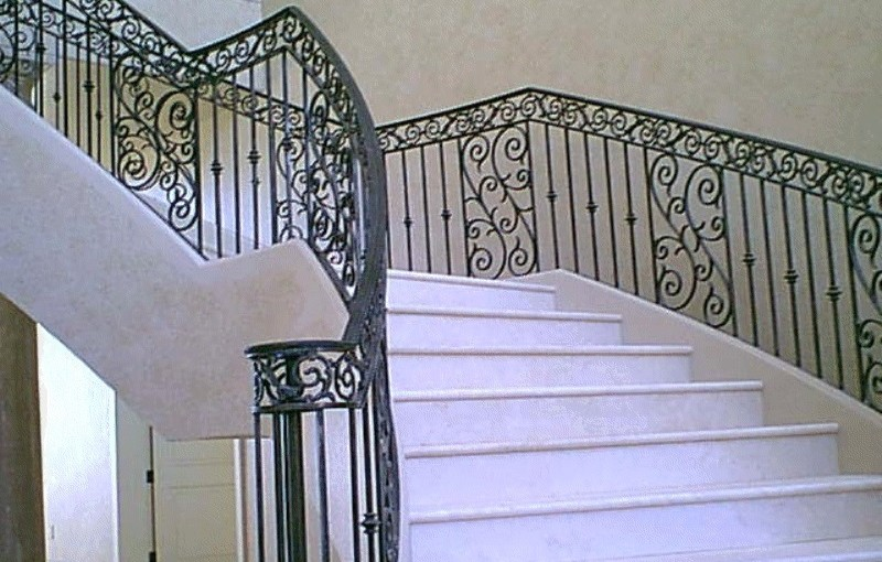 Wrought-Iron-Stair-Railing-(SR-27)