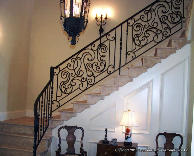 Wrought-Iron-Stair-Rail(SR-109a)