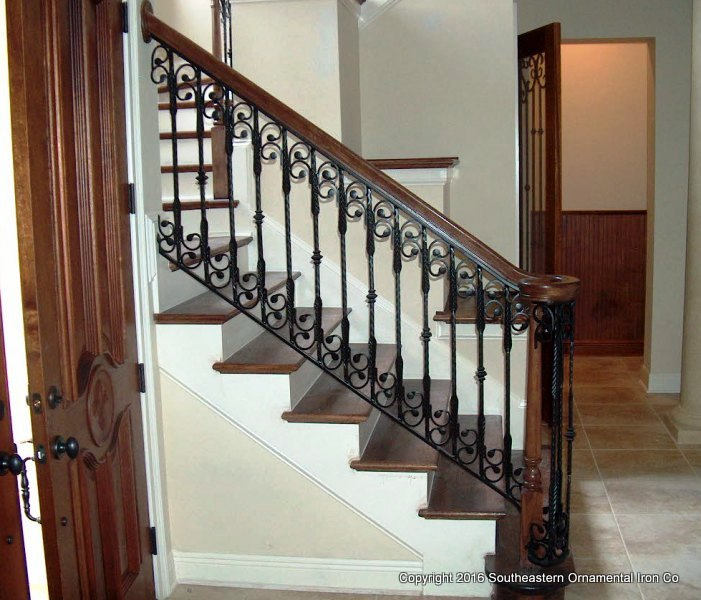 Wrought Iron Stair Railing (SR 44)