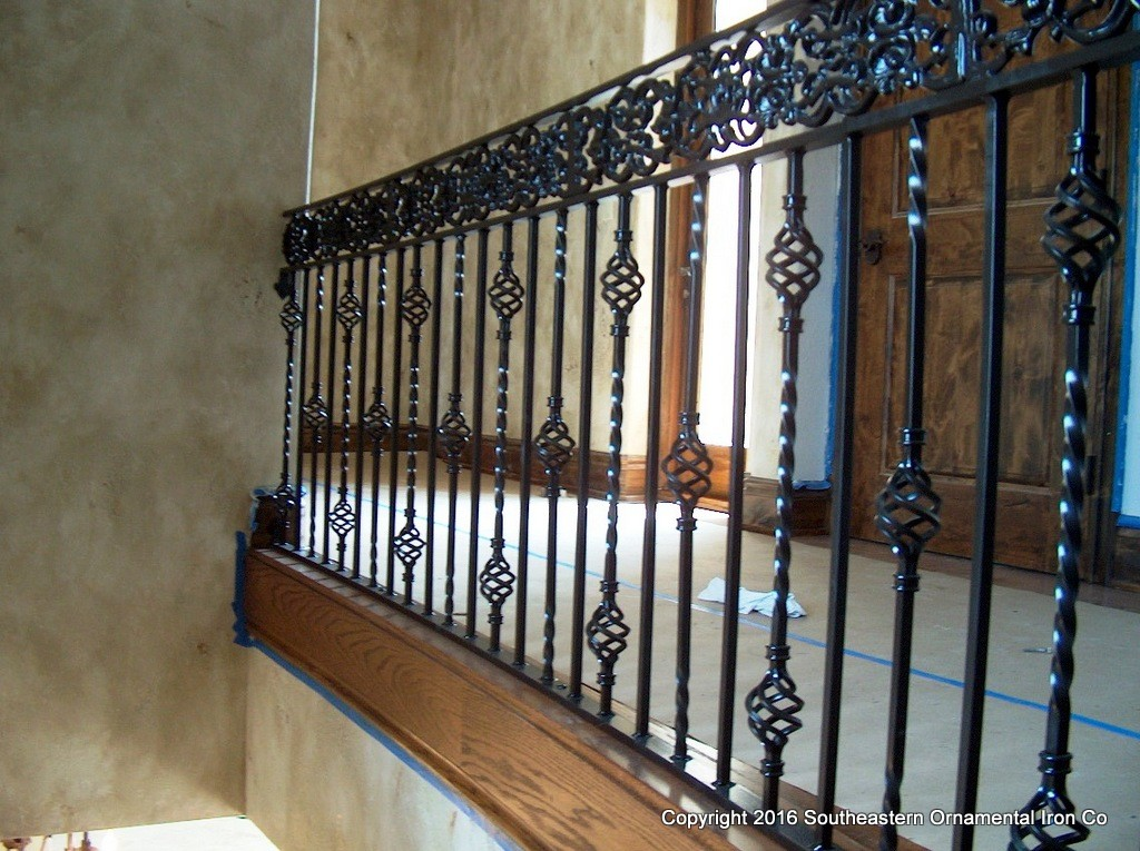 Banister iron works 28 images interior iron railing for Interior iron railing designs