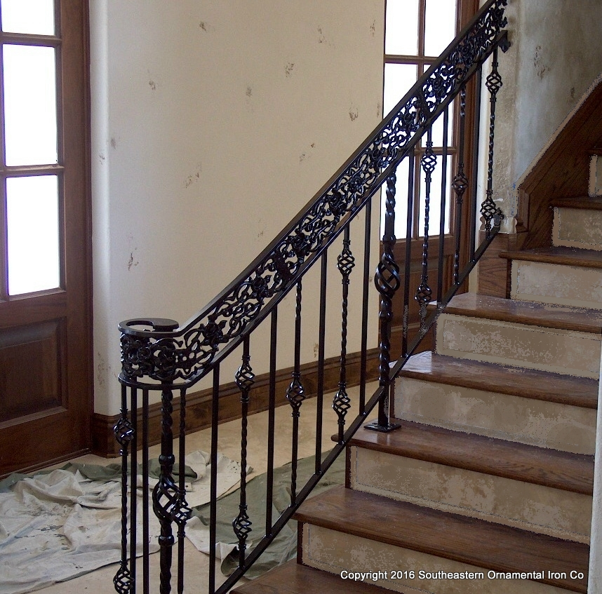 Wrought Iron Stair Railing (SR 57)