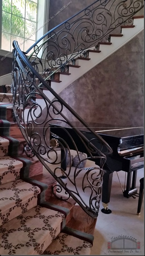 Wrought-Iron-Stair-Rail(SR-128)