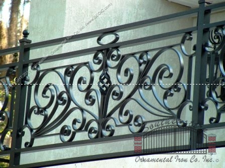 Custom Aluminum Hand Forged Balcony Railing