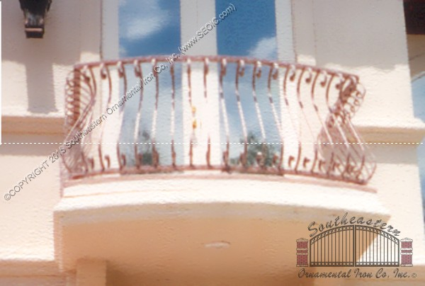 Balcony Railing with S-Scrolls(#R-25)