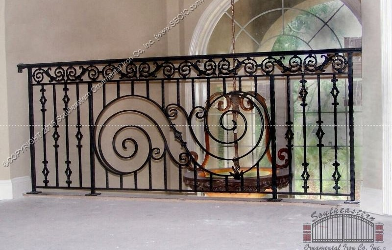 Interior Wrought Iron Railing(#R-14)