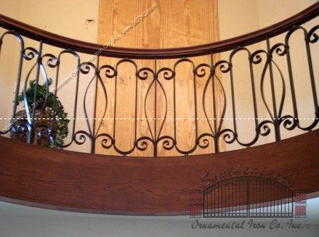 Interior iron balcony railing r 27 southeastern for Inside balcony railing
