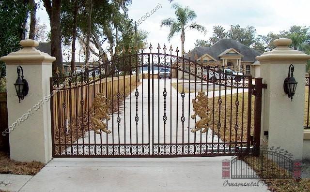 Custom Aluminum Driveway Gate (#VG-05)