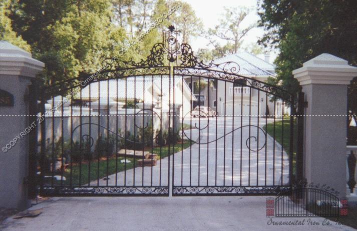 Custom Aluminum Driveway Gate (#VG-03)