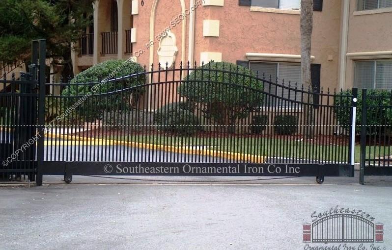 Custom Aluminum Driveway Gate (#VG-08)