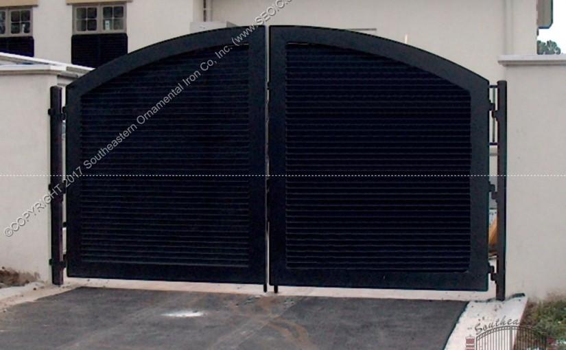 Custom Aluminum Driveway Gate (#VG-13)