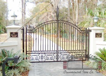 Custom Aluminum Driveway Gate (#VG-15)