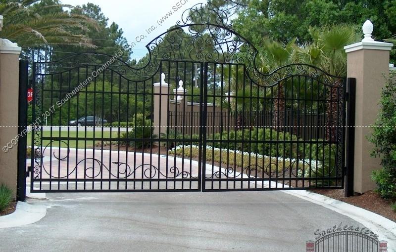 Custom Aluminum Driveway Gate (#VG-16)