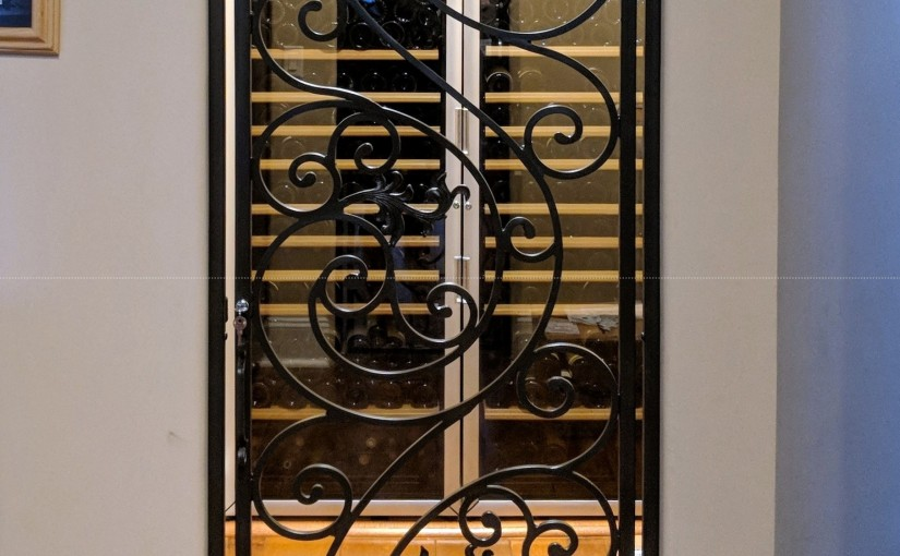 Custom Wrought Iron Wine Door (WD-19)