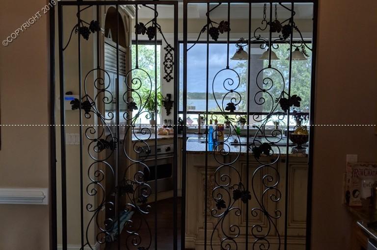 Custom Wrought Iron Wine Door (WD-20)