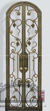 Custom Wrought Iron Wine Door (WD-01)