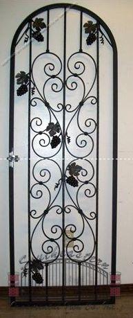 Custom Wrought Iron Wine Door (WD-06)