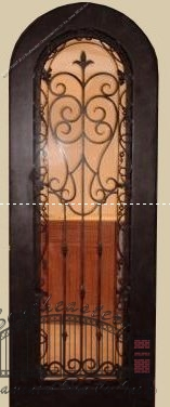 Custom Wrought Iron Wine Door (WD-03)