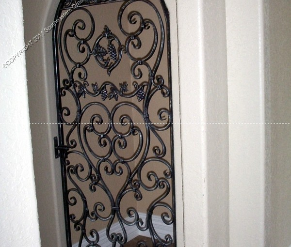 Custom Wrought Iron Wine Door (WD-07)