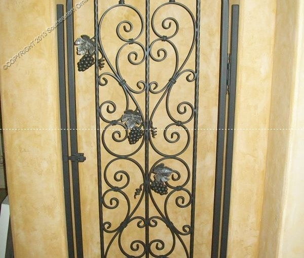 Custom Wrought Iron Wine Door (WD-09)