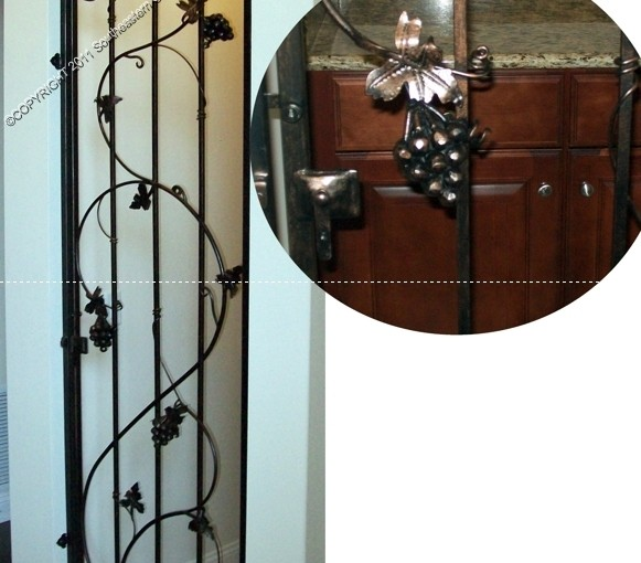 Custom Wrought Iron Wine Door (WD-08)