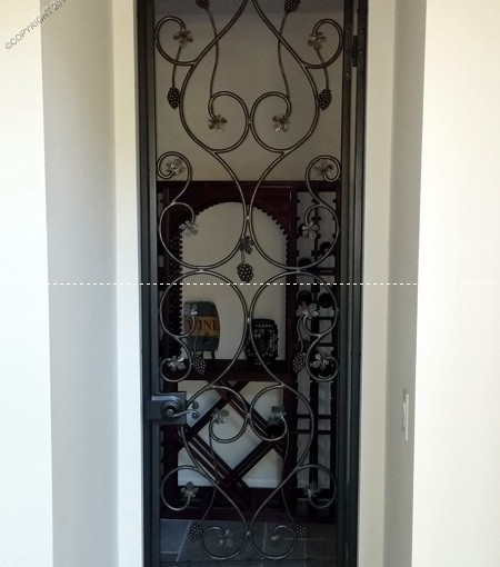 Custom Wrought Iron Wine Door (WD-10)
