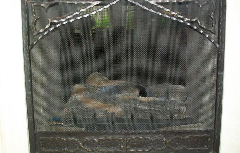 Custom Wrought Iron Fireplace Screen (FP-02)