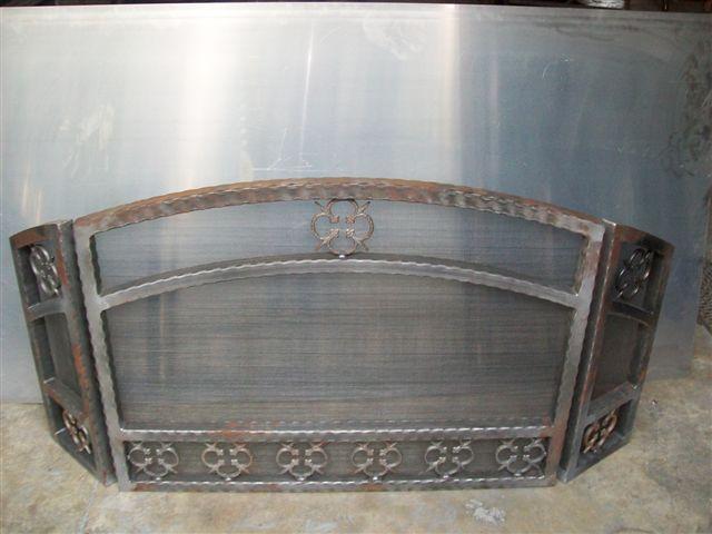 Custom Wrought Iron Fireplace Screen (FP-05)