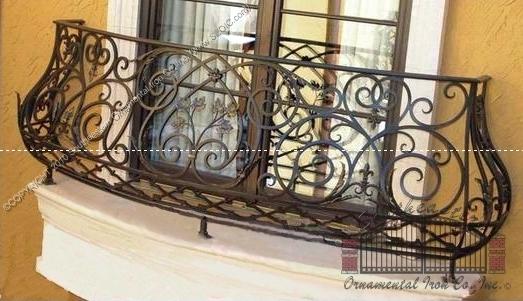 Custom Faux Balcony Railing (#R-124)