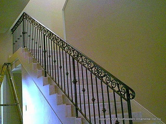 Wrought-Iron-Stair-Railing-(SR-34)