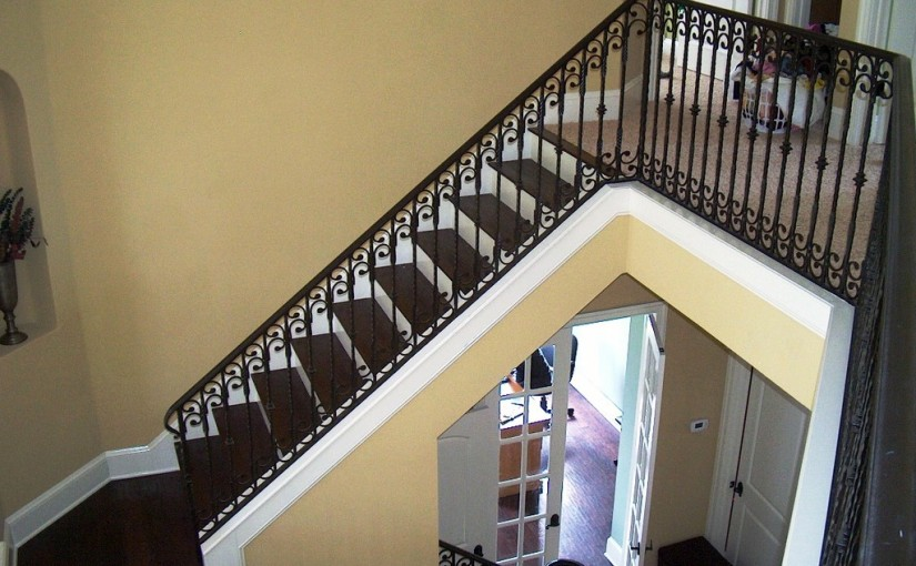 Wrought-Iron-Stair-Railing-(SR-45)