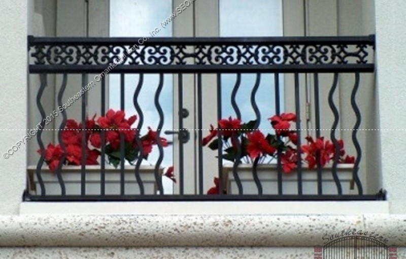 Aluminum-Deck-Railing-(#R-18) with 11-14-M Frieze and wavy pickets