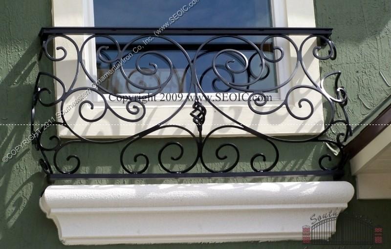 Hand Forged Aluminum False Balcony Rail(#R-10)