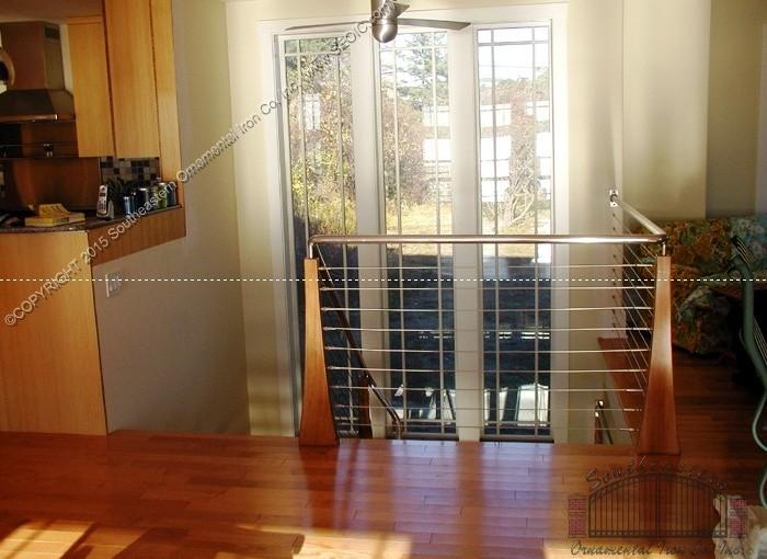 Cable-Railing-decorative-wood-newels(CR-14)