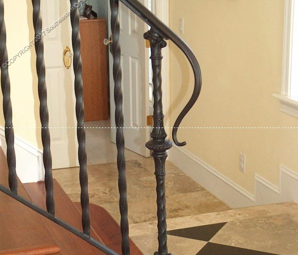 Wrought Iron Porch Railing (PR-16)