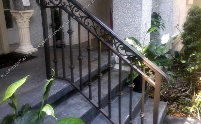 Powder Coated Porch and Step Railing (PR-19)
