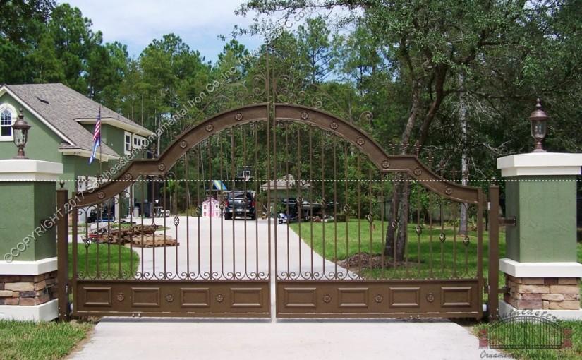 Custom Aluminum Driveway Gate (#VG-04)