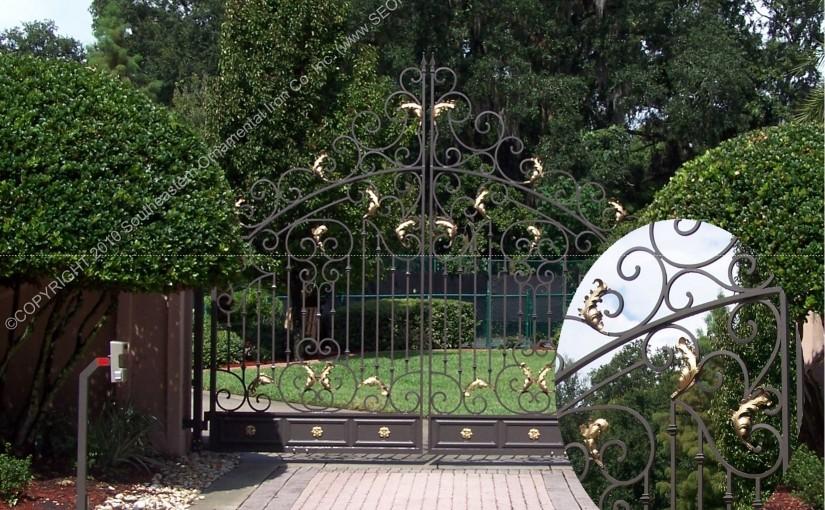 Custom Aluminum Driveway Gate (#VG-19)