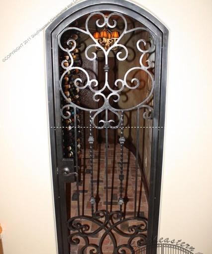 Custom Wrought Iron Wine Door (WD-02)