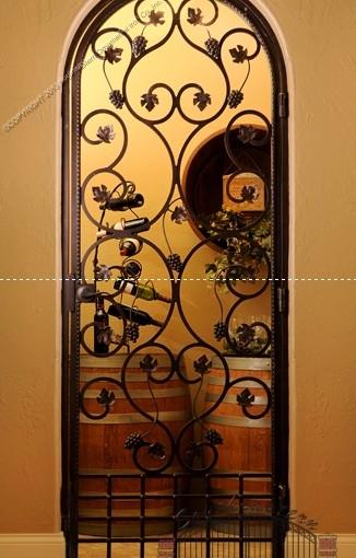 Custom Wrought Iron Wine Door (WD-05)