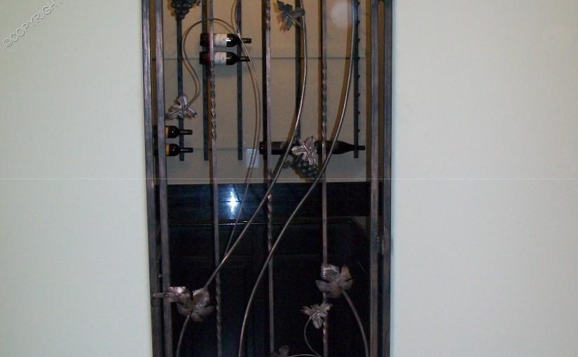 Custom Wrought Iron Wine Door (WD-04)