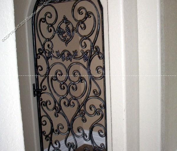 Custom Wrought Iron Wine Door (WD-07)