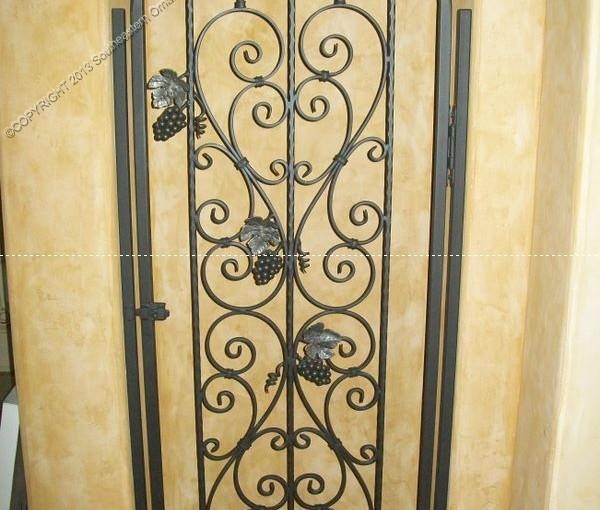 Custom Wrought Iron Wine Door (WD-09)