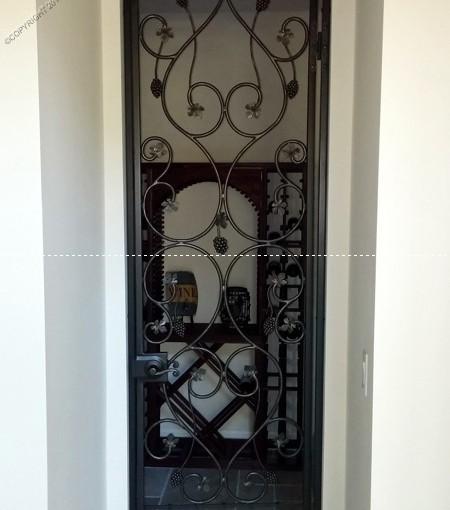 Custom Wrought Iron Wine Door (WD-10)