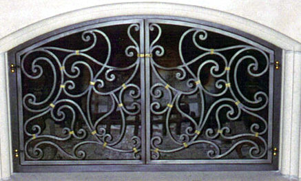 Custom Wrought Iron Fireplace Screen (FP-01)
